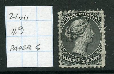 Weeda Canada 21vii Used Large Queen, paper type 6, perf 11.9