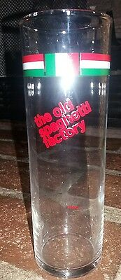 THE OLD SPAGHETTI FACTORY Glass Tall Skinny Beer Soda Drinking Vintage Very Good