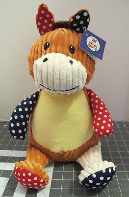 "Baby Cubbies Harlequin Horse ""Penelope Trotalot"" Plush for Embroidery"