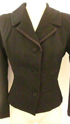 1950,s Kartex black worsted wool fitted jacket.Original vintage.Preloved.36 bust