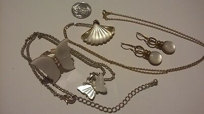 collection of costume jewellery, necklaces, butterfly