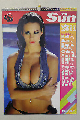 The Sun Page 3 Topless Girls Calendar 2011 - Feat Holly Peers (NEVER OPENED!)