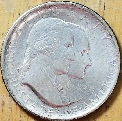 1926 Sesquicentennial half dollar AU Details Improperly Cleaned  KM# 160
