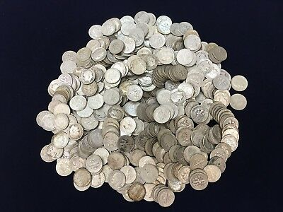 10 Rolls $50 Face Value 90% Silver Roosevelt Dimes - 500 coins