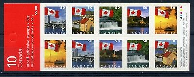 Weeda Canada BK302a VF complete booklet, wide roulettes, Dec. 2004 CV $25