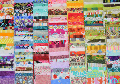 """100 x 5"""" charm squares random colours styles patchwork & quilting fabric"""