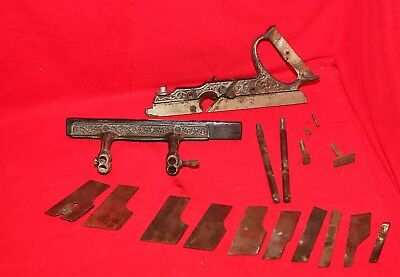 Stanley 46 Plow Plane Parts And 10 Plane Blades