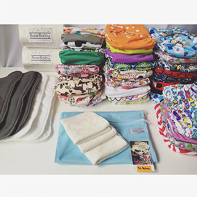 30 DELUXE PACK - BaeBaby - Reusable Modern Cloth Nappies - Diaper (MCNs)