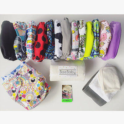 15 BASIC PACK - BaeBaby - Reusable Modern Cloth Nappies - Diaper (MCNs)