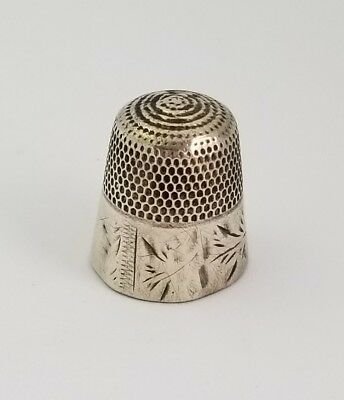 Antique Sterling Silver Thimble Size 13
