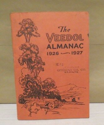 VINTAGE ORIGINAL 1927 Veedol Motor Oil  ALMANAC booklet pamplet EXCELLENT