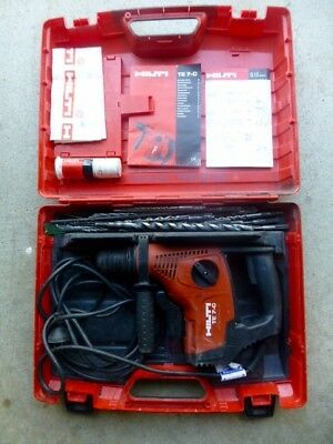 HILTI TE  7-C   Professional, electrically- powered rotary hammer drill Used.