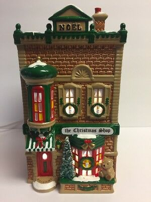 """Dept 56 Snow Village """"The Christmas Shop"""" #50970 With Orig Box - Retired 1996"""