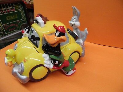 Warner Brothers Bugs Bunny Daffy Duck Taz Devil Sylvester Taxi Cab Cookie Jar