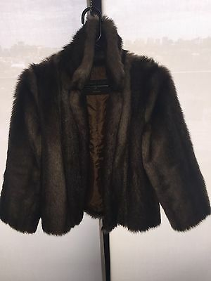 Brown Faux Fur Coat Women's Size 10