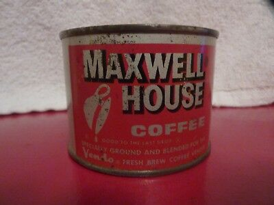 Vintage Maxwell House Coffee 4 oz. red label; for Vendo coffee vendor; VG cond.