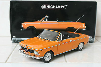 Minichamps 1:18 BMW 1600 Cabriolet 1967 Orange V RARE