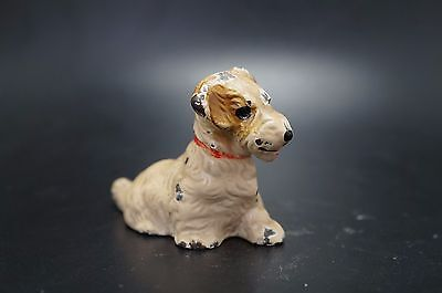 VTG Cast Iron HUBLEY Card Holder SEALYHAM TERRIER Puppy Dog