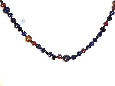 Vintage Multi Colored Glass Bead Necklace
