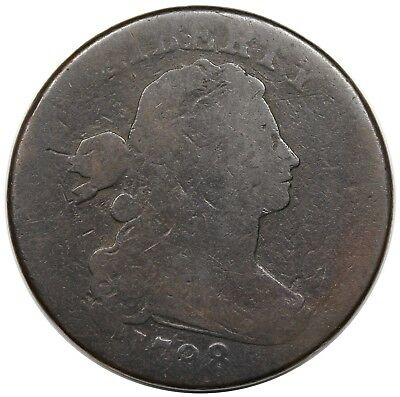 1798 Draped Bust Large Cent, Style 2 Hair, S-186, G