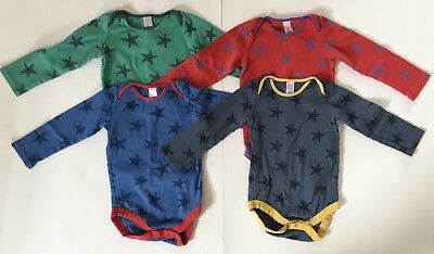 Mini / Baby Boden Boy's Size 18-24 Month Long Sleeve Stars Bodies Shirts (612)