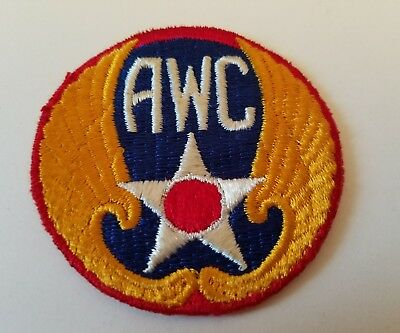 Rare WW2 AWC Aircraft Warning Corps Patch Badge US Army Air Force
