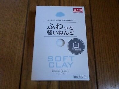 DAISO JAPAN Soft Light Weight Clay SET of  White Made in Japan F/S w/tra