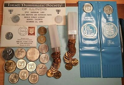 Interesting Lot of Over 100 Israel Coins & Medals Including Silver #4C03