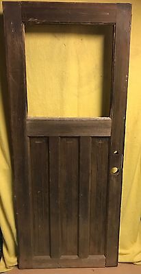 UNIQUE ANTIQUE Craftsman WOOD DOOR EXTERIOR 32x77 ARCHITECTURAL SALVAGE