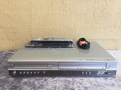 Serviced LG V-8824 Combo VCR DVD player + Video Recorder + Remote + RCA VHS