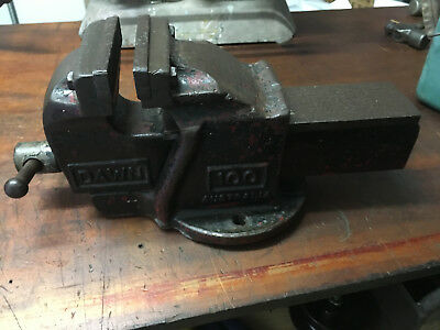 Vintage Dawn Australia Bench Vice (100) Heavy Duty Industrial Engineering Tools