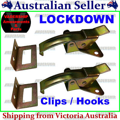 New: Control Panel Lockdown Clips / Hooks – Set of 2 - Arcade / Mame