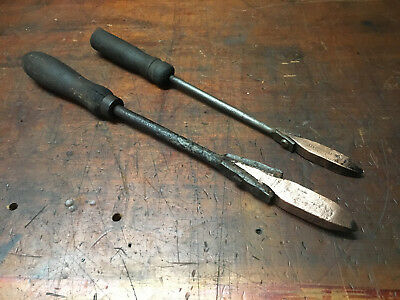 Vintage Set Of 2 Brass Soldering Irons
