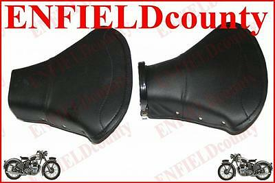New Lambretta Scooter Front & Rear Single Saddle Seat Set Black Colour @aus