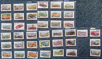 1940s  Malties Confectionary Cards:  KNOW  YOUR  CARS  (Set of 40)  EXCELLENT