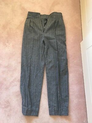 FREE SHIP Vintage markets high waisted wool pinstriped pants size 6 8 xs S