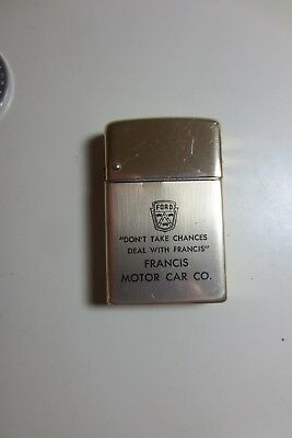 Portland Or.  Automobile Collectible Francis Ford Wind Master Cigarette Lighter