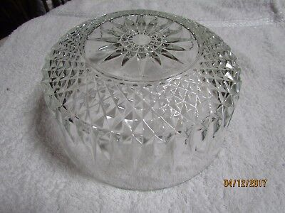 "Vintage Arcoroc France Clear Glass 8"" Trifle Dish Fruit Salad Deep Serving Bowl"