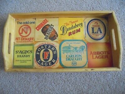 Vintage wooden Bar Tray  1970s