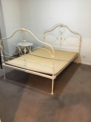 Antique wrought iron double bed