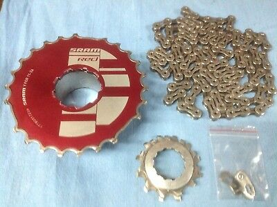 SRAM red Cassette 11-26 With Chain.