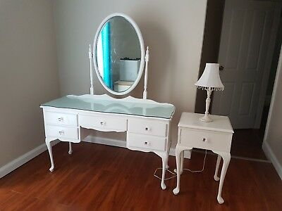Dressing table, Bedside Table and Lamp