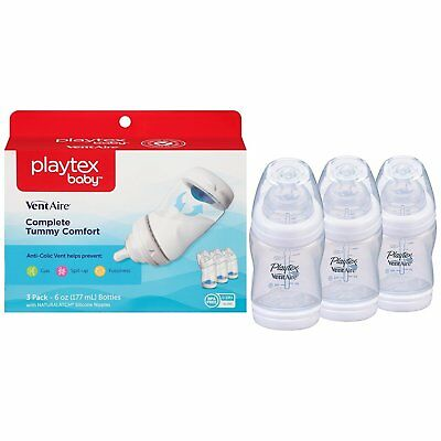 Baby Bottle Anti Colic Nursing Bpa Free 6 Ounce 3 Pack Playtex Baby Ventaire New