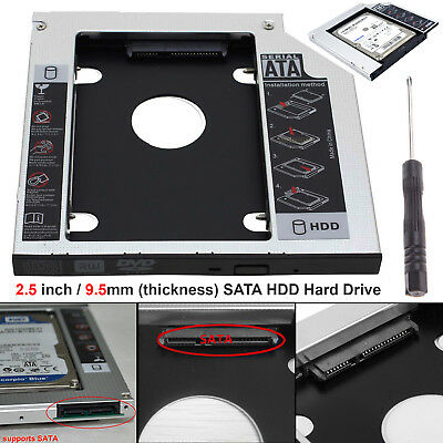 Universal 9.5mm SATA HDD SSD Hard Drive External Caddy Case CD DVD-ROM Laptop