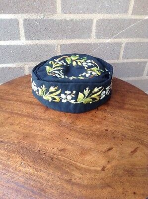 Antique & very attractive Chinese Hand Embroidered Hat In Excellent Condition