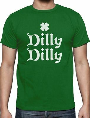 Dilly Dilly Irish Shamrock Clover ST. Patrick's Day T-Shirt For Men S - 5XL New