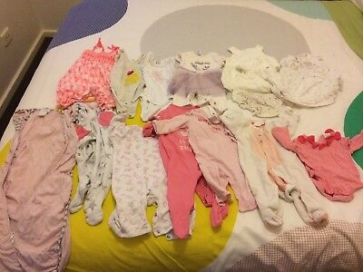 Baby Girls 000 Bulk Clothes. One Pieces, Summer, Winter, Love To Dream, Bonds
