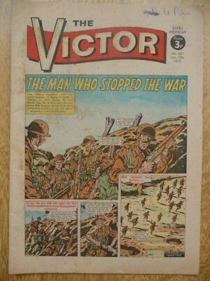 Vintage The Victor Comic No.621, Jan.13th, 1973 - The Man Who Stopped The War
