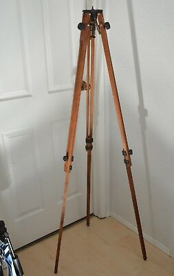 Vintage Ries La Empire Devices Wood C Tripod Surveyor Camera Steampunk Mod