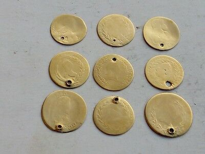 LOT 9 COINS  GOLD TONE  AUSTRIA , KREUZER 1787- 1830 with metal detector XP DEUS
